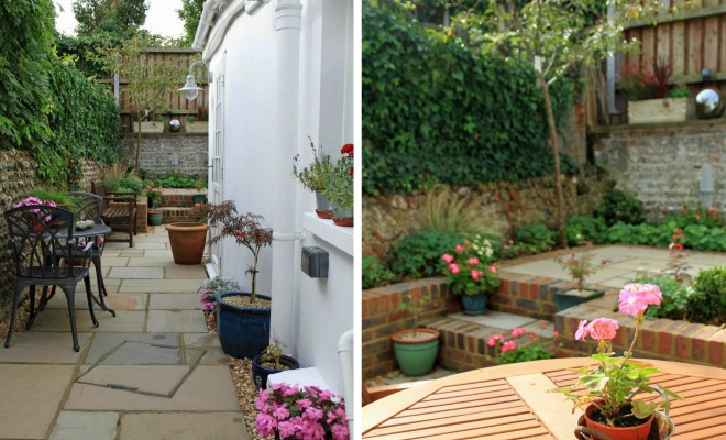 Claire moreno garden design and planting in kent for Very small courtyard ideas